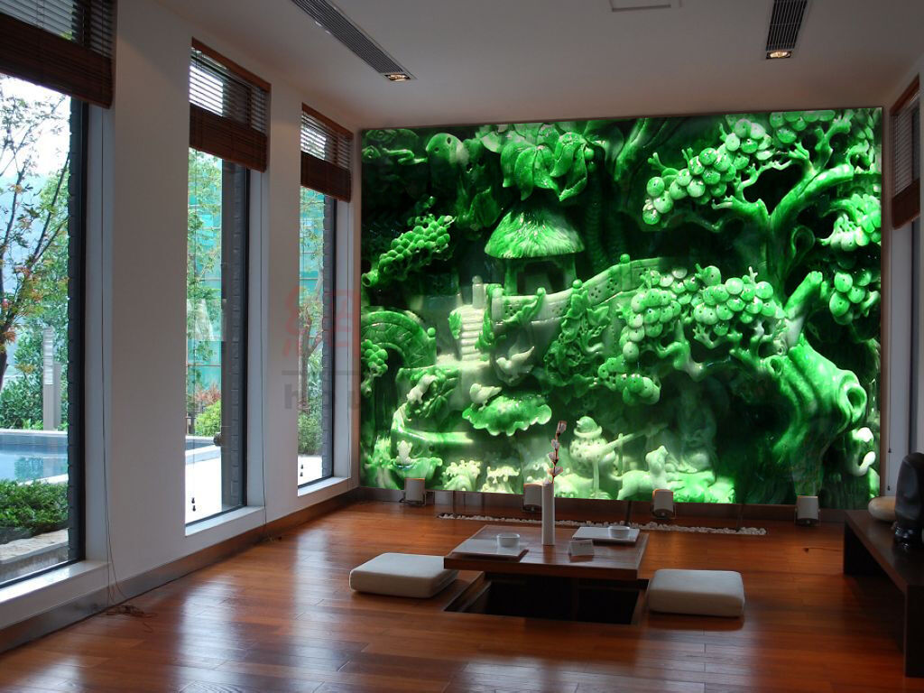 3D Jade Arbre.37 Photo Papier Peint en Autocollant Murale Plafond Chambre Art