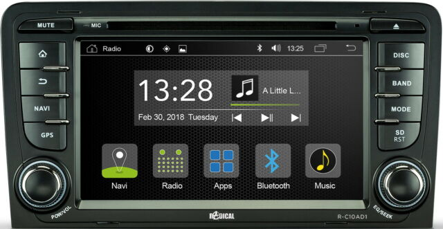 "For Audi A3 Cabriolet 8P 8PA 7 "" Inch App Android Car Radio Wifi DVD USB BT"