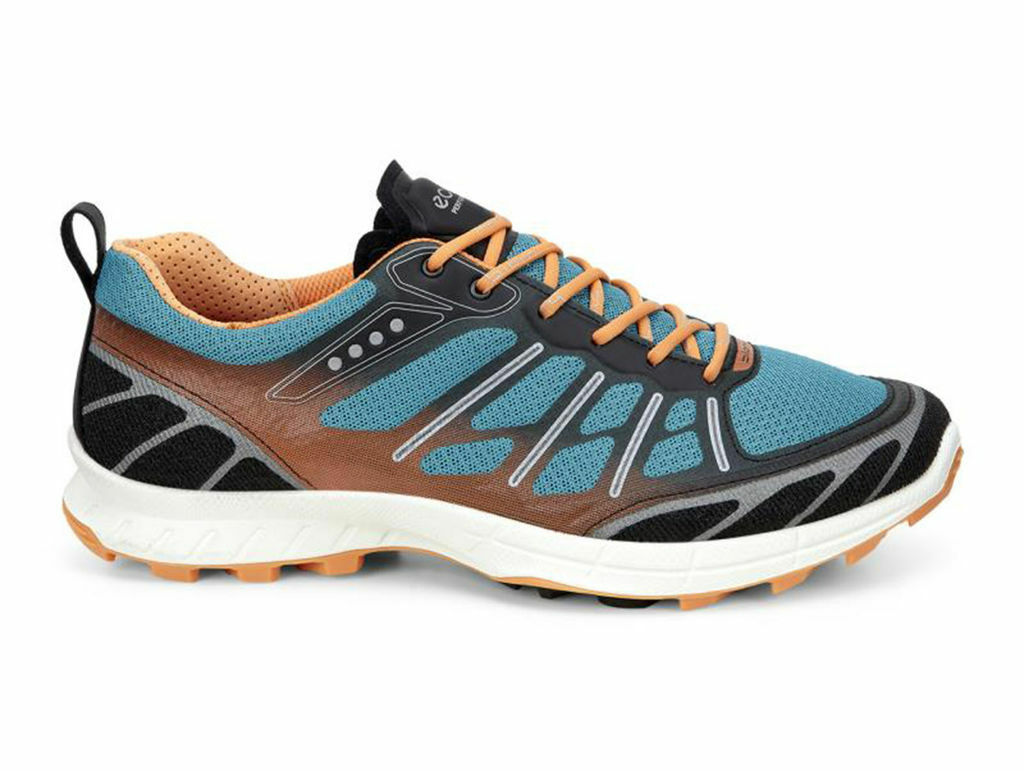 New in Box Womens ECCO Biom Trail FL Trail Running shoes Black Pagoda bluee UK 41