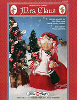Mrs. Claus & Candy Cane, Fibre-craft Crochet Patterns For 13 Doll