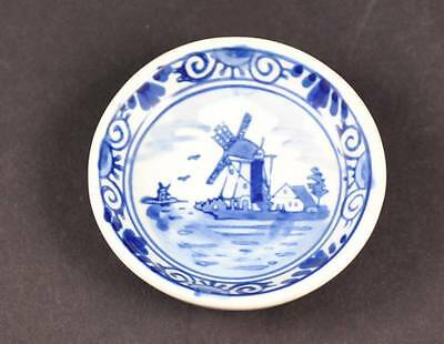 Boma Hand Painted Delft's Blauw Pottery Jewelry Trinket Dish Blue White 2 1/2""