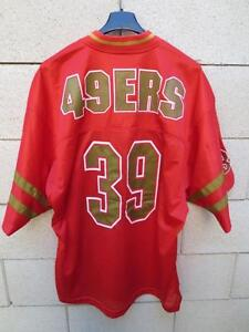 VINTAGE-Maillot-foot-americain-49-ERS-San-Francisco-n-39-NFL-shirt-US-M-CMP