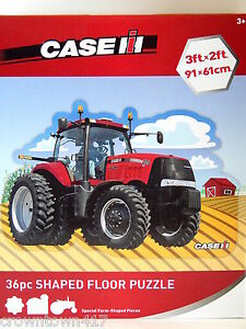 Case Ih Tractor Floor Puzzle Special 36pc Farm Shaped