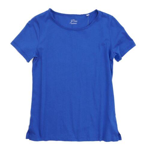 Nwt Athènes Blau Supima Baumwolle Kurzärmelig Raw Edge T-Shirt J.Crew DAMEN S
