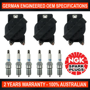 6x-NGK-Spark-Plugs-amp-3x-Ignition-Coils-for-Holden-Commodore-VS-VT-VY-VX-3-8L