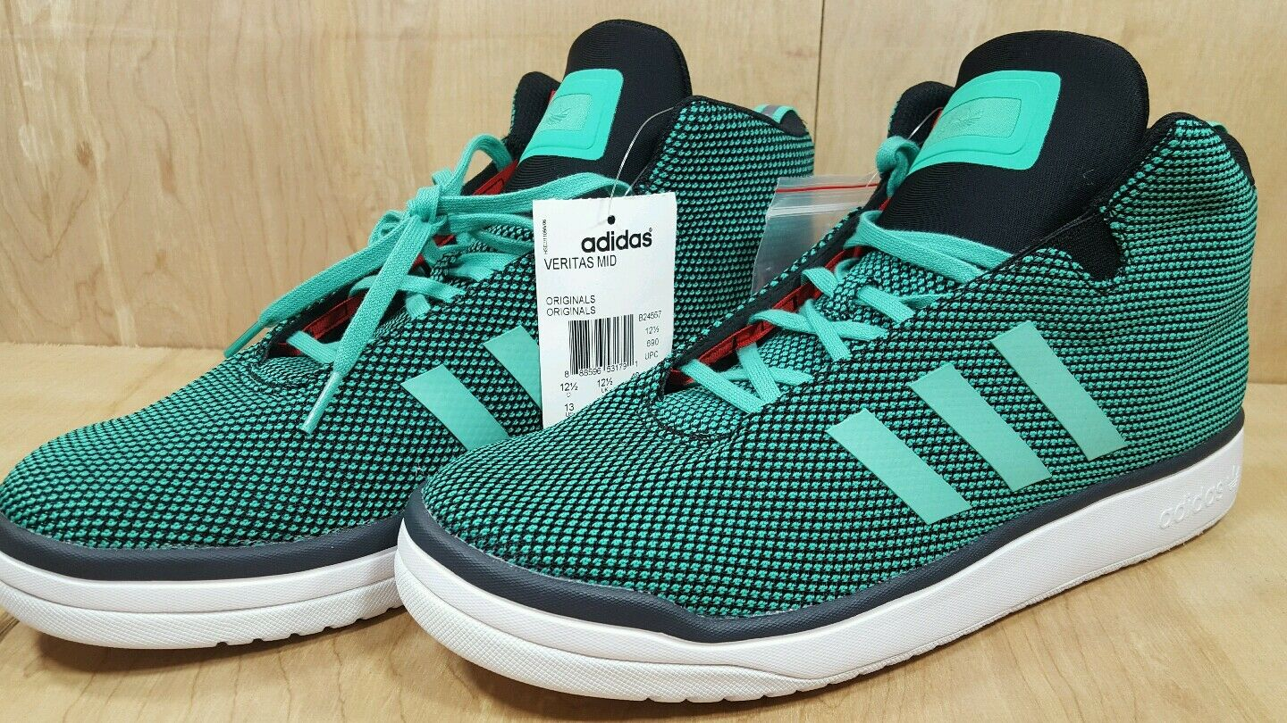 Adidas Originals Mens Veritas Mid Shoes Green B24557-GRN
