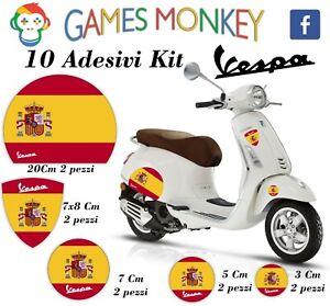 ADESIVI-MOTO-VESPA-kit-PIAGGIO-Bandiere-SPAGNA-SPAIN-Cerchio-Casco