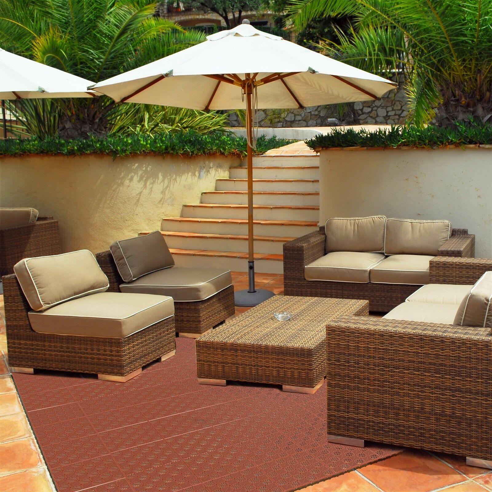 Outdoor Patio Interlocking Floor Tiles