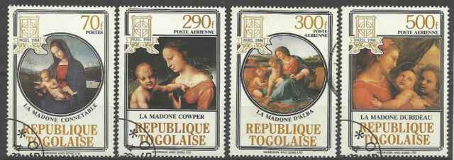 Timbres Religion Noel Togo 1150 PA512/4 o lot 4905