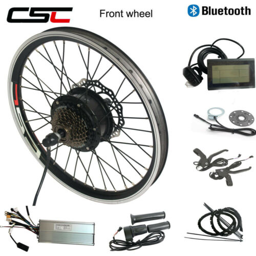 Electric Front Wheel Motor Kit 36V 250W Brushless Anti-Charge Bluetooth e Bike