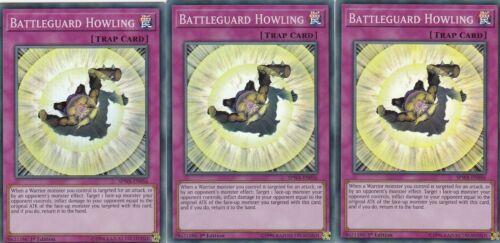 YUGIOH CARD 3 X BATTLEGUARD HOWLING   SPWA-EN056  SPIRIT WARRIORS
