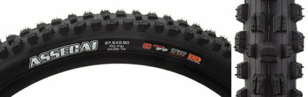 Maxxis Assegai tire 27.5 x 2.5 Tubeless Pliant Noir Double EXO Wide Trail