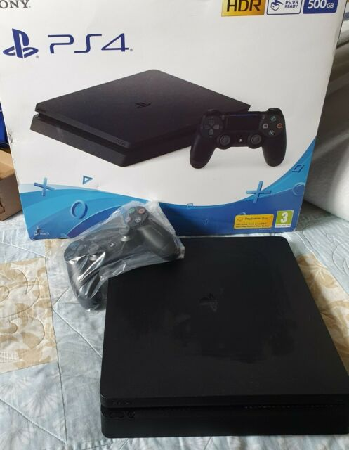 Sony PlayStation 4 Slim 500GB Jet Black Console - works just faulty disc drive