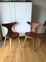 Spisebordsstol, Læder, Dolpin, 2 stk.
