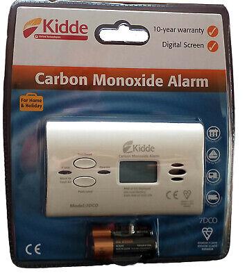 3 X Kidde 7DCO Carbon Monoxide Alarm Digital Display 10 Year Sensor and Warranty