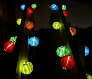 Image Is Loading 10 PC Solar String Lights White LED Patio