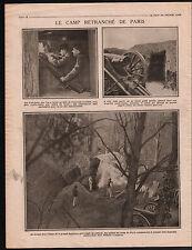 WWI Président Poincaré Etat-Major Armées Artilleurs Télémètre 1915 ILLUSTRATION