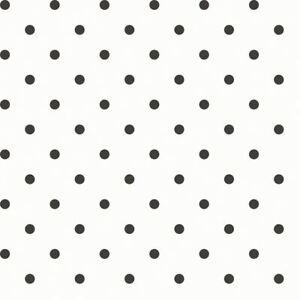 Détails sur Essener Tapete Primavera 7579 Motif à Pois Noir Blanc  Papier-Peint