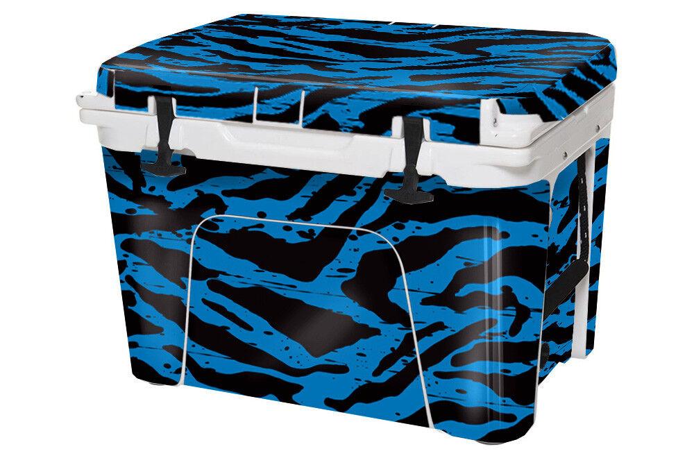 USATuff Custom Cooler Decal Wrap fits YETI Tundra 65qt FULL Blau Zebra