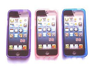 Cover Custodia Sline Silicone TPU per Apple iPhone 5C in 8 colori.