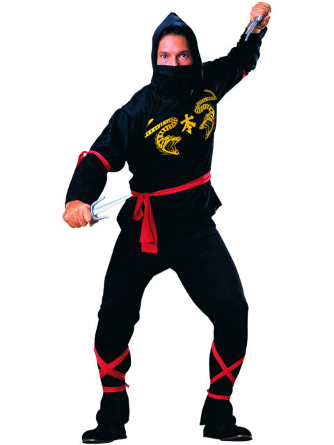 Adult Assassin Warrior Black Classic Ninja Martial Arts Costume