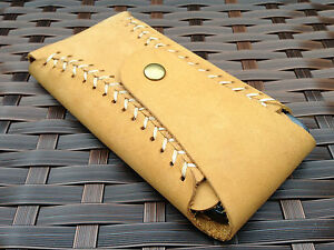 Genuine-Real-Leather-Luxury-HandMade-Vintage-Brown-Pouch-Case-For-iPhone-5-5S-SE