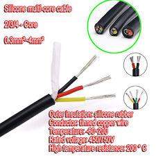 234 Core Silicone Flexible Wire Tinned Copper Temp 200 Cable Multi Stranded