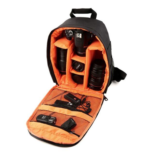 Waterproof Camera DSLR Lens Backpack Case Bag Adjustable Padded Divider kt