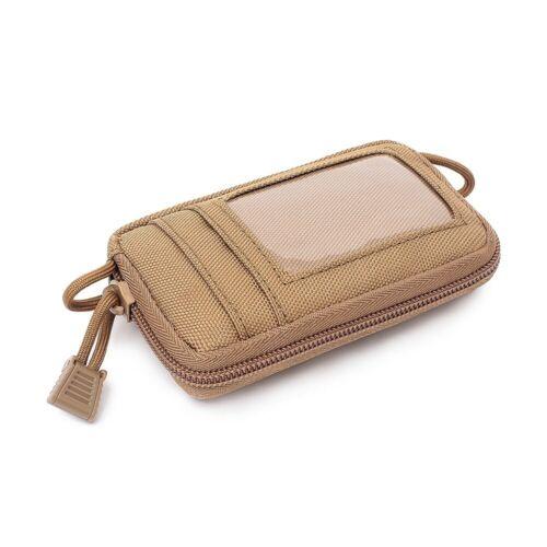 Tactical Wallet Card Bag Card Key Holder Money Pouch Pack Outdoor Waist Bag Case