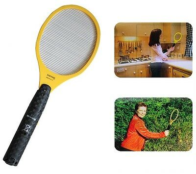 New Electric Fly Swatter Bug Zapper Mosquito Killer Racket 17.3* 6.3''