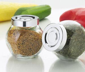 Image Is Loading IKEA 4 Spice Jars Glass BPA Free 5oz