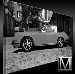 Automobilia Porsche 911 Targa 2.4 Bild Canvas Art Kunstdruck Echtes Leinwandbild Artwork Top