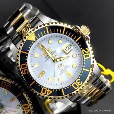 Invicta Grand Diver Automatic Diamond Ltd Edition Two Tone MOP 47mm Watch New