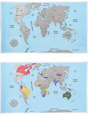Rubbel Weltkarte Scratch Off World Map Poster-Karte Landkarte zum Rubbeln NEU