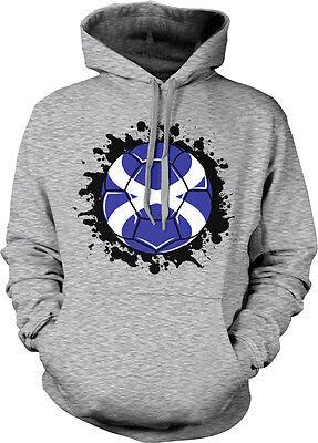 Scotland Flag Ball Born From Scottish Country Outline UK Team Hoodie Sweatshirt