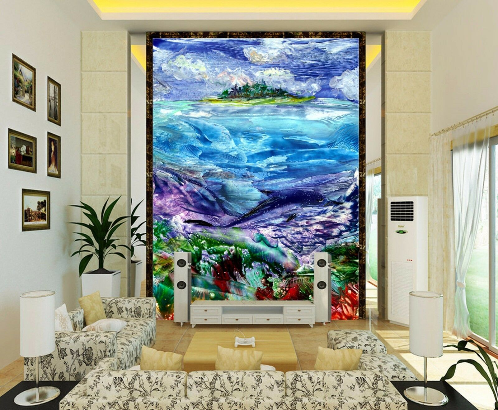 3D Ocean Island Painting 295 Paper Wall Print Wall Decal Wall Deco Indoor Murals