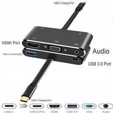 Type c to HDMI VGA adapte cable Multiport converter Hub for Macbook dell huawei