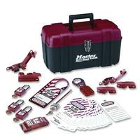 Master Lock Electrical Lockout Kit Portable Safety Carry Case Rd/bk 1457e410ka on sale