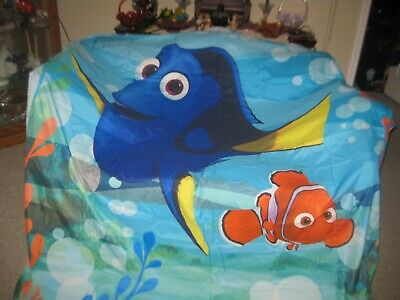 Finding Dory All New Fabric Shower Curtain Set Disney with 12 Matching Hooks