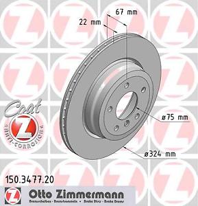 Bremsscheibe 2 Stück Zimmermann 150.3477.20 COAT Z