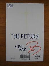 WOW Marvel Civil War The Return #1 2x Signed Paul Jenkins Tom Raney COA