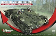 RENAULT UE UNIVERSAL CARRIER W/GUICHERD TRACKED TRAILER (FRENCH MKGS)1/35 MIRAGE
