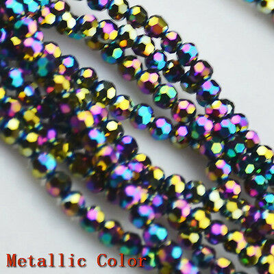 4MM Faceted Czech Crystal Loose Round Beads DIY Bracelet Necklace Jewelry Making