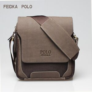 3bf643f422 Image is loading Men-Leather-Shoulder-Bag-Briefcase-Male-Travel-Messenger-