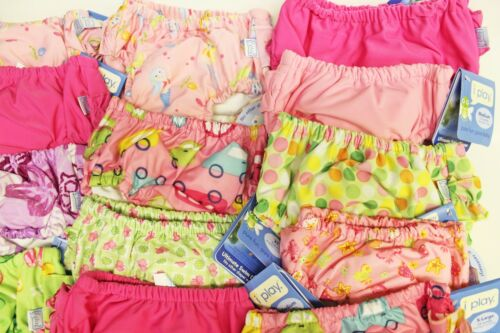 LOT 3 NEW iplay Baby Toddler Girl Ultimate Swim Diapers UPF 50 Size 2T 24M