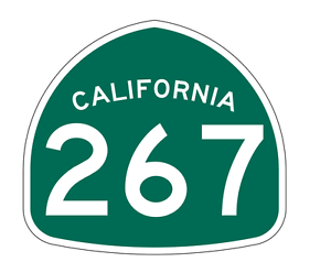 California State Route 267 Sticker Decal R1315 Highway Sign