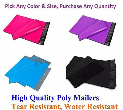 """25-5000 10/"""" x 13/"""" Poly Mailers Envelopes Plastic Shipping Bag Mailing 10x13 Inch"""