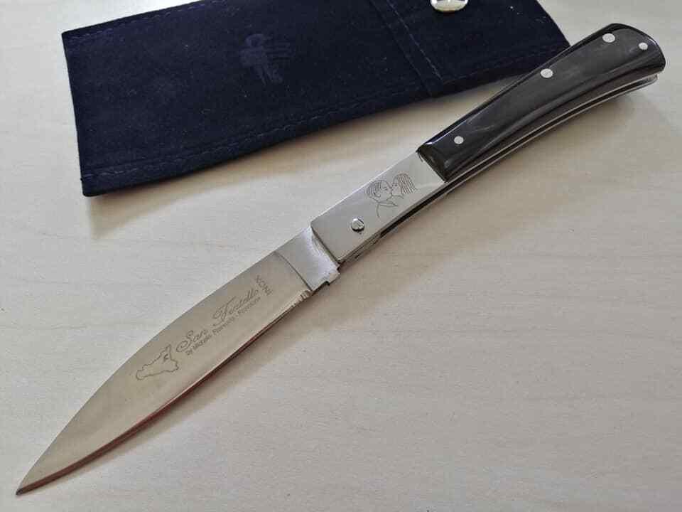 Coltello Tradizionale San Fratello corno scuro italian KNIFE couteau navaja