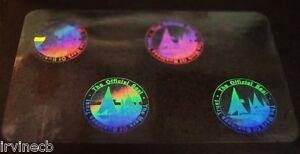 Lot of 25 Hologram Overlays Vertical Shield and Key Inkjet Teslin ID Cards