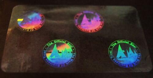 Lot of 50 Hologram Overlays Mark of Business Overlay Inkjet Teslin ID Cards